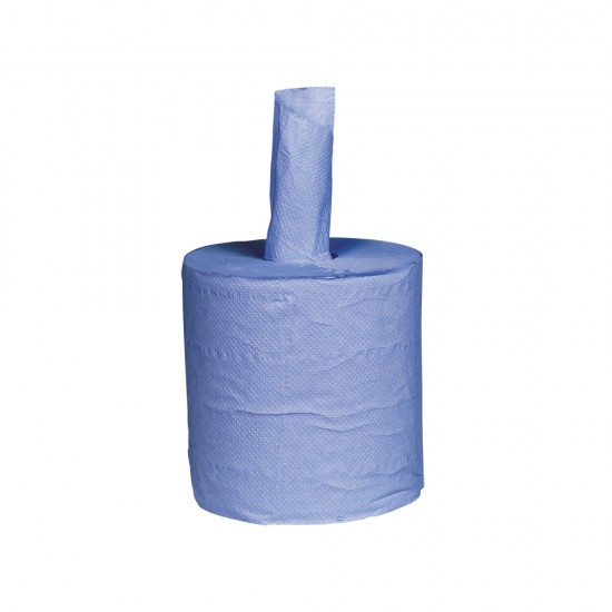 Bowcare 2ply Blue Premium Embossed Centrefeed Roll