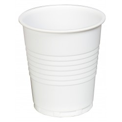 7oz Squat Cups White Plastic