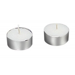4H Tealights With Cup White