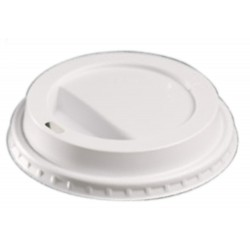 12oz domed sip-thru lid white