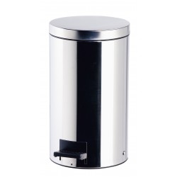 20 Ltr Polished Stainless Steel Pedal Bin