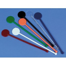 Cocktail Disc Stirrers  Assorted Colours