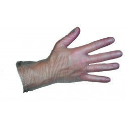 Vinyl Gloves Powdered Clear Large