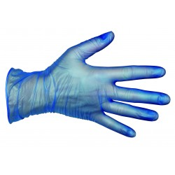 Vinyl Gloves Blue Small