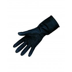 Heavy Duty Black Rubber Gloves Medium