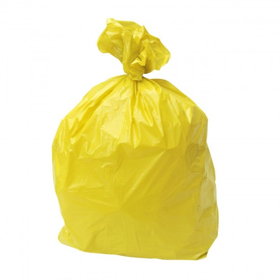Yellow 15kg Clinical Refuse Sack