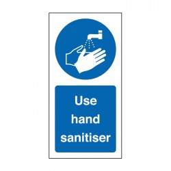 Roll Of 100 Use Hand Sanitiser Labels 100x50mm