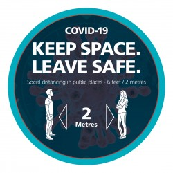 COVID-19 Keep space leave safe