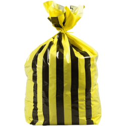 Bowcare HD 15kg Yellow Tiger Stripe Refuse Sack
